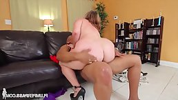 Mazzaratie Monica is a big ass blonde who likes to have sex with horny, black guys