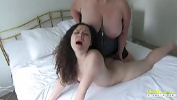 British mature with big boobs got down and dirty with a dark haired babe, just for fun