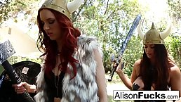 Horny Viking chicks, Jayden and Alison Tyler couldn't hold back from making love with each other